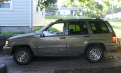1995 Jeep Grand Cherokee Limited for sale 2300/OBO. 5.2 V8 Quad Track, Leather Interior, 4 Wheel Drive, 160K. Please call for more information or to make an offer. Buying a new truck so getting rid of my jeep. Local sales and Cash Only! 402-591-0052 Mike.