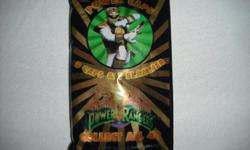 1995 Mighty Morphin Power Rangers Pogs 8 Power Caps & 1 Slammer Pack   Each pack contains 8 Pog caps plus game rules  1 Slammer  Collect all 6 Slammers in the collection  Collect all 40 caps in the collection  For ages 5+