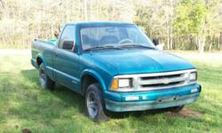 1996 Chev S10 V6 truck, auto, air, runs good, $1250 OBO, call 870-930-6483 or 870-761-1527
