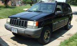 1996 Jeep Grand Cherokee Laredo, one owner, 137K miles, Black, Automatic, V8