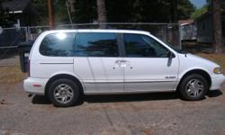 1996 Nissan Quest Minivan 600.00 OBO. New radiator, tie end rods, struts, fuel pump motor mounts. Needs engine work.
