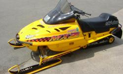 Up for sale is a nice 1997 Ski Doo, MXZ 440 fan cooled sled with 2,800 miles on it. Trades welcome. Call Jay at 502-583-6546 with any questions.