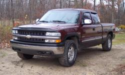 1999 Chevrolet Silverado 1500 4X4 Extended Cab Short Bed, V8, 5.3 Liter, Automatic, 3rd door, full bench back seat, Air, Compass Mirror, Power Steering, Tilt Wheel, Power Windows/Doors/Seat, Cruise Control, Z71 Suspension, Towing Package, Truxedo Tonneau