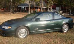 1999 Pontiac Grand Prix GTP Coupe Power Window, Door, Seats and Sunroof Information System Miles - 151,091 I drove this vehicle to and from Little Rock and it got 30.8 miles per gallon!! $3,870.00 Cash Price Ask about our Finance Options and Pay Off at