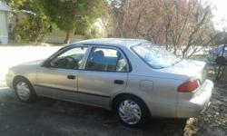 FOR SALE: 1999 Toyota Corolla-- Automatic, power windows, power locks, a/c, fair condition. One owner.