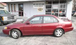 1999 Toyota Corolla LE This Gas Saver is just getting started Runs Great!! This sharp looking family gas saving car has has a VViT 4cyl motor Cloth interior, AM FM Cass Stereo, child proof locks, loaded with power options, SUNROOF, Wings Wheels, good