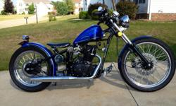 """2012 old school bobber custom paint by Pinks only 40 miles on her ready to show or ride. 21""""front tire 62 spokes 18"""" rear tire 72 spokes 1020 Dom frame 250cc Lifan #253 will reach speeds of 80 miles per hour and will get up to 100 miles per Gallon 2.1"""