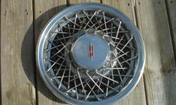 (1) Vintage original used Olds 1985-92 spoke hub cap. GOOD condition,some scratches and a curb dent.  IF THIS IS NOT WHAT YOU ARE LOOKING FOR BUT YOU ARE IN NEED OF A DIFFERENTHUBCAP/WHEEL COVERCONTACT ME,I HAVE MANY USED DIFFERENT