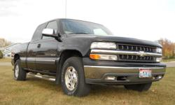 2000 Chevy Silverado 1500 LS Extended Cab Vortec V8, 5.3 Liter Engine Automatic Transmission 4WD 190,500 + miles  Z71 Suspension ABS (4-wheel) Air Conditioning  Sliding Rear Windo Power Windows Power Door Locks Cruise Control  Power