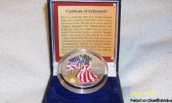 BEAUTIFUL AMERICAN EAGLE SILVER DOLLAR, COIN IS GENUINE US MINT COINAGE. THE OBSERVE OF THE .999 FINE SILVER 1 TROY OUNCE COIN IS BASED ON ADOLPH A. WEINNAN'S 1916 ' WALKING LIBERTY' HALF DOLLAR. THIS BEAUTIFUL COIN COMES WITH THE BLUE BOX AND