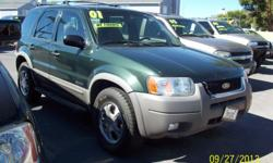 THIS SUPER CLEAN 2001 FORD ESCAPE NO CREDIT CHECK ! BUY/HERE PAY/HERE /-