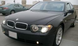 Beautiful 2002 Bmw 745I Sedan 4D with Black exterior / Grey Interior. The car has 162,123 highway miles. Options: Back-up sensors, sport seats, heated seats / cold seats, sunroof, cd, premium sound, navigation, a/c, cruise control. Clean title. The car