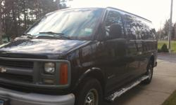 Black 1 ton 8 passenger. 2012 new water pump,tires, fuel pump, starter, and battery.250,000 miles.