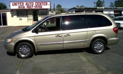 ?2002 Chrysler Town & Country - Pre Owned Certified , V6 , Auto Trans. Pewter EXT. Tan Leather INT. Fully Loaded , Low Miles 88K , $7,950 United Auto Center Inc. 17474 Foothill Blvd. Fontana CA 92335 (909)427-1446 or UnitedAutoCenter50@gmail.com