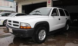 http://www.autobizhawaii.com/detail.aspx?id=3752067&PrefID=11416&.aspx Year: 2003 Make: Dodge Model: Durango Trim: SXT 2WD Mileage: 155,246 Stock #: f582201 VIN #: 1D4HR38N43F582201 Trans: Automatic Color: White Interior: Cloth Vehicle Type: SUV State: