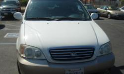2003 KIA SEDONA WHITE STOCK#540967 ASKING PRICE$6,988 PLUS TAX LIC, AND DOC FEES CALL TODAY FOR ,MORE INF,@(909)984-8000 DC MOTOR SPORTS INC, 958 E. HOLT BLVD ONTARIO CA91761 (909)984-8000 10AM - 7PM WWW.DCMOTORSPORTS2009.COM