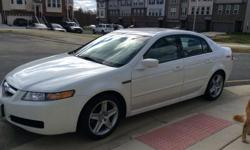 Great car with clean car fax. Dual control A/c, rear sensor, dual side mirror defrost, white exterior, tan leather interior, with wood trim.