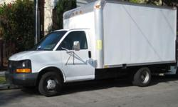 CHEVY G3500 12ft BOX TRUCK W/LIFTGATE Fire Extinguisher (included) A/C GPS, Ipod hookup, Built-in Bluetooth CD/DVD Player Infinity Speakers Registration Expires 4/10/2011 Interior : Good condition no rips or tears Exterior : Good Condition, Minor Scratch