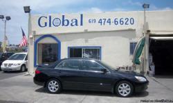 Honda Accord EX V-6 4dr Sedan Automatic 5-Speed black 119710 V6 3.0L V62005 Sedan Global Sales & Finance (619) 474-6620