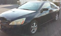 2005 92000 miles 2 door coupe ex-l. Pearl black. 5 speed manual transmission. Engine is excellent condition. Contact Sam at 5623533374.