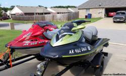 2005 Sea-Doo RXT supercharged 1500. Less than 200 hrs. New start/stop switch and starter solenoid. Fresh rebuild on supercharger. 3 seater. Adjustable ski pylon pulling wake boarder or tube. BlackTip traction mat. Comes with a double trailer. $4000firm.