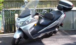30,000 miles good condition. Florida bound. Have full windshield + luggage (GIVI) on back. Fine on the highway. Top speed nears 90 mph. Gas mileage is 50-55 mpg. Joe @ 631-736-6473.