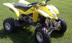 2005 Suzuki LTZ-400 ATV; Stock except handle bars, ridden very little in the past 3 years, some normal wear, original tires, riding gloves, goggles and helmet are included in sale. Questions call Sean at 814-897-5745