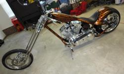 Here is your chance to buy an beautiful custom chopper without waiting 6 months to have it built. 100 Cubic Inch S&S Engine, Chrome Springer Frontend, Molded Seat Pan, 300 Rear Tire with Rightside Crive