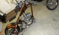Now is your chance to own a beautiful Custom Chopper without waiting 6 months for it to be built. The bike only has 2400 miles on it, 100 Cubic Inch S&S Engine, Chrome Springer Frontend, Molded Seat Pan, 300 rear tire with rightside drive. Beautiful