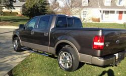 Original Owner with factory sticker: 2006 Ford F-150 4X2 Supercrew , 139,500 mainly highway miles Lariat 139? WB Styleside 5.4L EFI V8 Engine Electronic 4-SPD Auto O/D Dark Stone Clearcoat with Beige Clearcoat Accent Tan Leather Interior with Captain