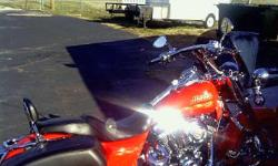 Roadking Screamin Eagle3 ltd. This bike retailed for $35,000 when new. It is in mint condition with less than 23,000 miles. 110 cubic inch, saddle bags, front and rear back rests, alarm system, cruise control, charcoal sporty windshield and