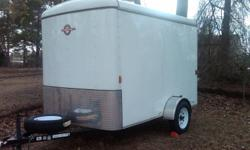 This trailer is in excellent condition. Has only been used 4-5 times. The last time it was used was last summer, August 2010, it was hauled from Maine to Fayetteville, NC. No troubles at all. Bought from Lowes for $3300 by my uncle, I then bought it off