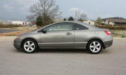 2007 Honda Civic EX Coupe with 65,150 miles. Excellent Gas Mileage $8,900. For more information call -- www.autosofozarks.com