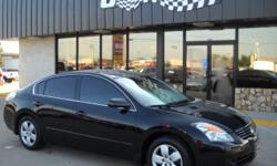 SMOKING HOT black altima with dark tinted windows! Rides great and gets awesome gas mileage, comfortable and has lots of room for a mid-sized sedan. 4 Door, 2 Wheel Drive, Automatic Transmission, Air Conditioning, Bucket Seats, Center Console, Cruise