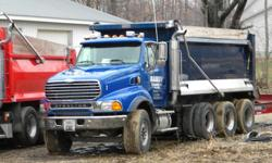2007 Sterling Tri-axel dump truck, 450 horse power mecedes diesel, 80k miles, 8LL trans, all locking differentials, all aluminum wheels, 17 ft hard-ox steel bed, power windows & door locks, 2 new front floats, electric tarp. Ready to work needs nothing