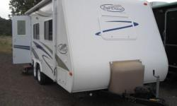 2007 Trail-Cruiser by Trail Lite 23QB  2007 Trail-Cruiser by Trail Lite Model 23QB 24ft. A/C, Gas & Electric Hot Water Heater, Furnace, Fridge/Freezer, Stove Top with Oven, Microwave with Vent, Large Bed in the front that makes into a Couch,
