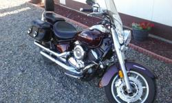 2007 Yamaha V-Star 1100 Silverado, it is Metallic Red and has been a great vehicle to ride. I need to sell it to buy a car for the family. The air filter has been upgraded to K&M and the Tail-pipes upgraded for extra power. It has minor repairs