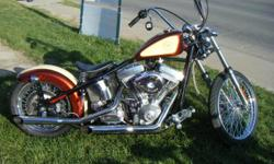 2009 Sucker Punch Sally custom bobber bought in August of 2009...500 miles on bike..Harley Evolution Type Motor 1340cc..6 speed tranny..Apes, solo seat, two tone vintage style paint..I love love love this bike, it has tons of power but I am going to