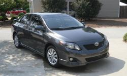 """Toyota Corolla 4-door sedan S. 28,299 miles. Very clean, well maintained, one owner car. 4-speed automatic, 16"""" Steel wheels with full wheel covers, anti-lock brakes, daytime running lights, direct tire pressure monitor system, color keyed power outside"""