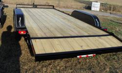 Out the door price. New equipment trailer, 2ft dovetail set back jack a stronger jack stand up ramps. 2 - 5,200 lb ez-lube axels10,400 lbs. cap. brakes on rear axel, 205/75/15 new tires on new silver grey wheels, 2x8 treated wood floor,DOT approve lights,