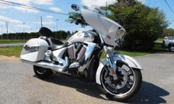 2011 Victory Cross Country. This bike is in excellent shape, well maintained. The bike has 30511 miles on it. The bike not only has a 106 engine, but has the following features... - FM Radio - AM Radio -AUX Port -Cruise Control -LED Lighting -Highway Bar