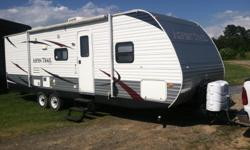 2012 Aspen Trail camper like brand new been used less than ten times. This camper has a slide out and sleeps 9 comfortably it has been kept under a shed and has been well taken care of it is a very nice camper. Asking pay off