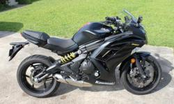 Selling 2013 Ninja 650R, only 1647 miles. Has some minor scratches on both the left and right fairing from the female rider just not being able to hold the weight of the bike while maneuvering it around on foot and falling over. Crack to one side of the