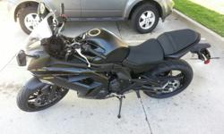 It is a 2013 Yamaha Ninja 650 that is just past the break in miles on it. It has 1813 miles on it right now. The buyer will have to meet me at the place in Columbia, Mo. where the loan is so we can get the lien release for it. I have the title here with