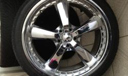 Excellent condition. Fits nissan altima and GMC sierra. 5 lug. 5x114 pattern 255/35 ZR 20