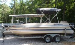 20ft 2000 Fisher Deck Boat with 125hp Mercury. Priced as is for $5,500 We will be putting new carpet and reupholstered seats in it. When it's done the price will be $7,500. Short term Layaway available with no credit check. Most boats we require $500.00