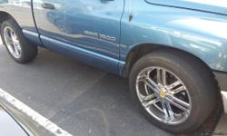 """Selling (4) 22"""" Chrome Rims with 305/45R22 Tires: 3 Tires are Sunny SN3980 (http://www.victoriatire.com/tires_Sunny_SN3980) 1 Tire is a Lexani LX-Nine (http://www.lexanitires.com/tire/lx-nine) Tires have a little more than 1/3 of thread life left on them."""