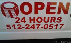 *561 417 3114* TIRES NEW & USED lowest prices in AUSTIN TX 24hr road service