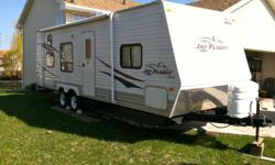 26' 2007 Jayco Jayflight Travel Trailer. Excellent Condition inside & out. Very clean. Comes with sway-bar & weight distribution hitch, HD TV & DVD player stays with the camper as well. This camper has room for 6 people, bunks in the back, a double bed in
