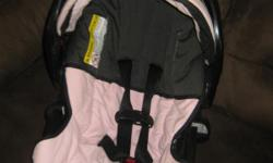Pale pink infant car seats great condition with bases. I have two but will sell just one or both. 25.00 per seat